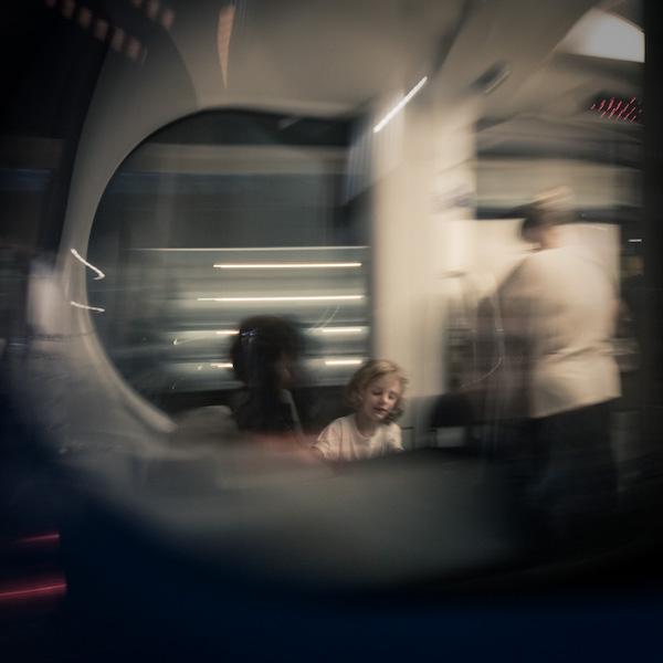 Dreamy in the tram.