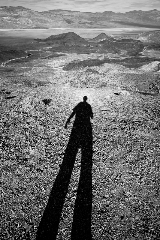 A shadow in death Valley.