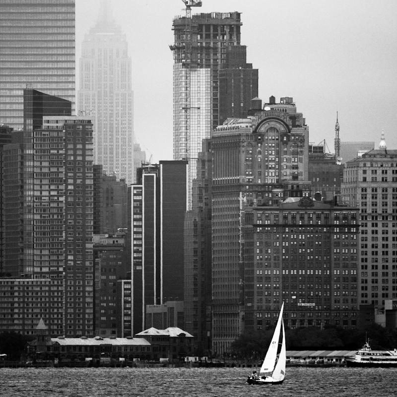 In New York Bay.