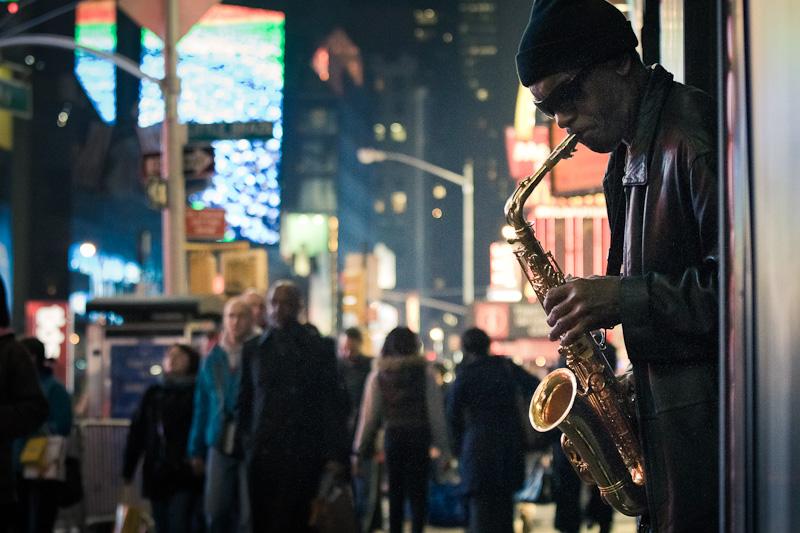 Time Square Saxophone.