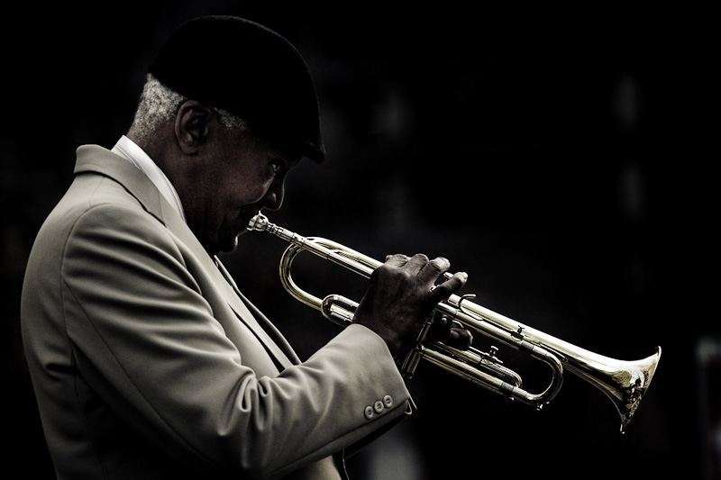 The trumpetist.