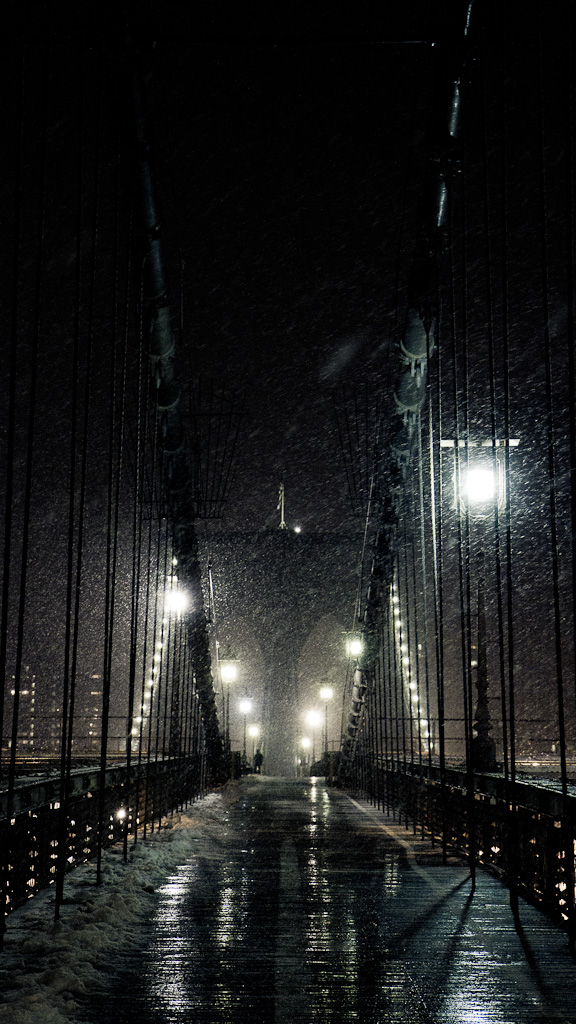 Brooklyn Bridge Snowstorm.