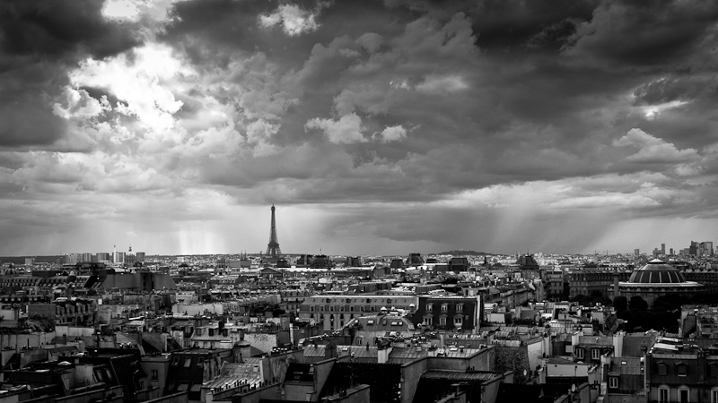 Upcoming storm over Paris.