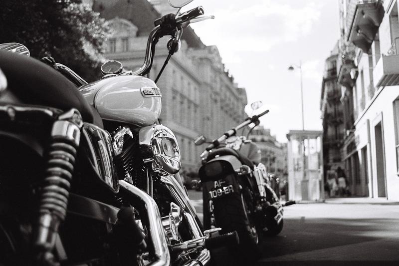 Two Harleys.