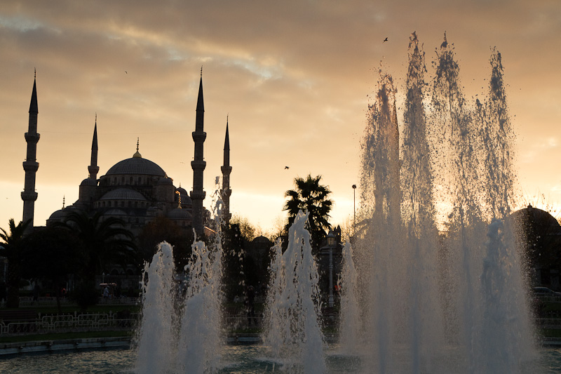 Sunset on the Blue Mosque.