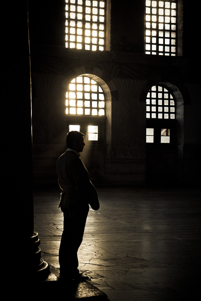 Waiting in the light.