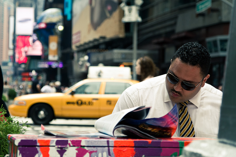 Piano on Timesquare.