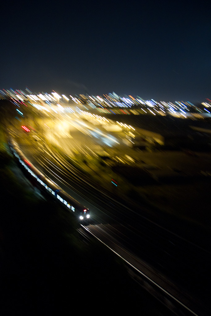 Through blurry nights.