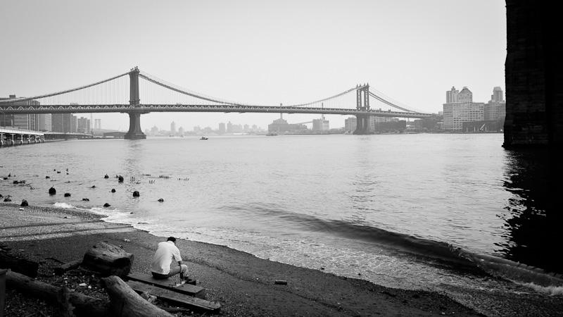 Under Brooklyn Bridge.