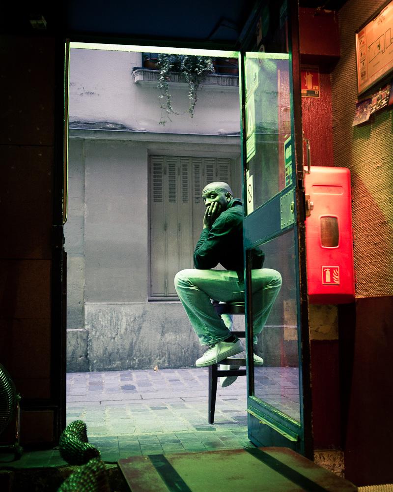 The barman at the BdA.