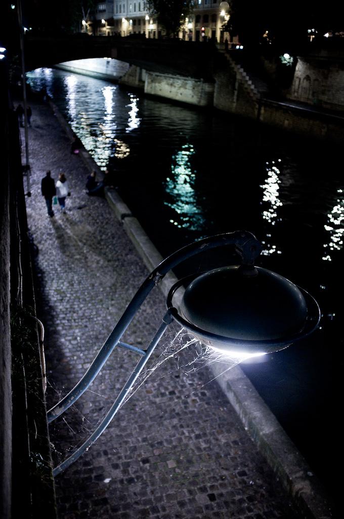 On the Seine docks.