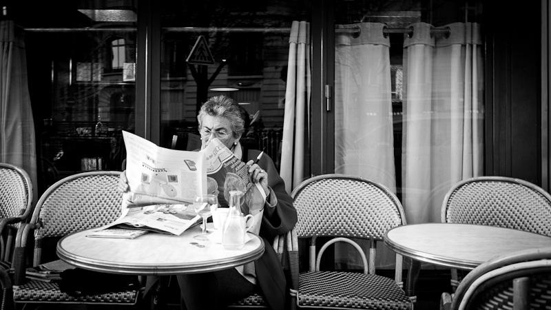 Coffee and Newspaper.
