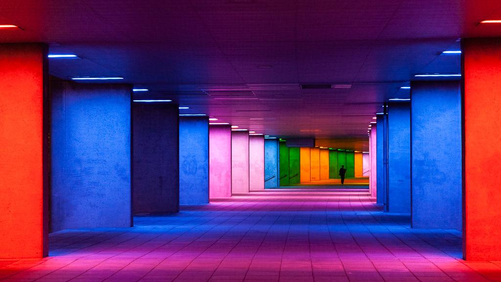 Tunnel of colors.