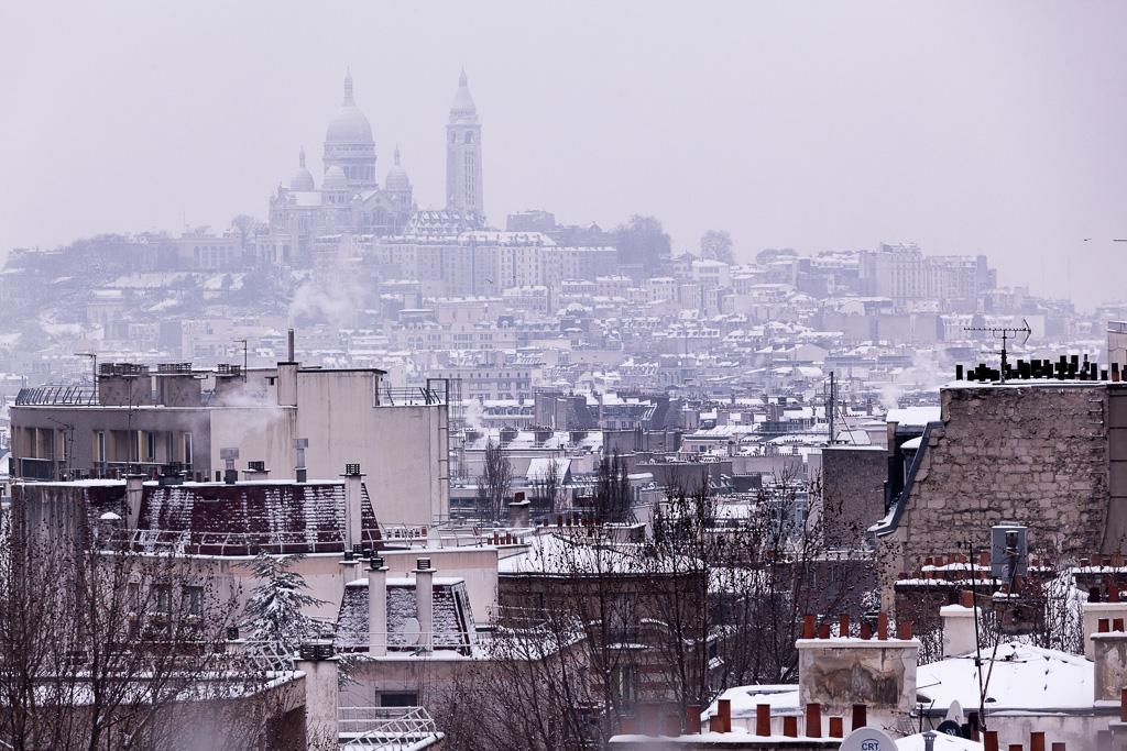 Snowy Montmartre.