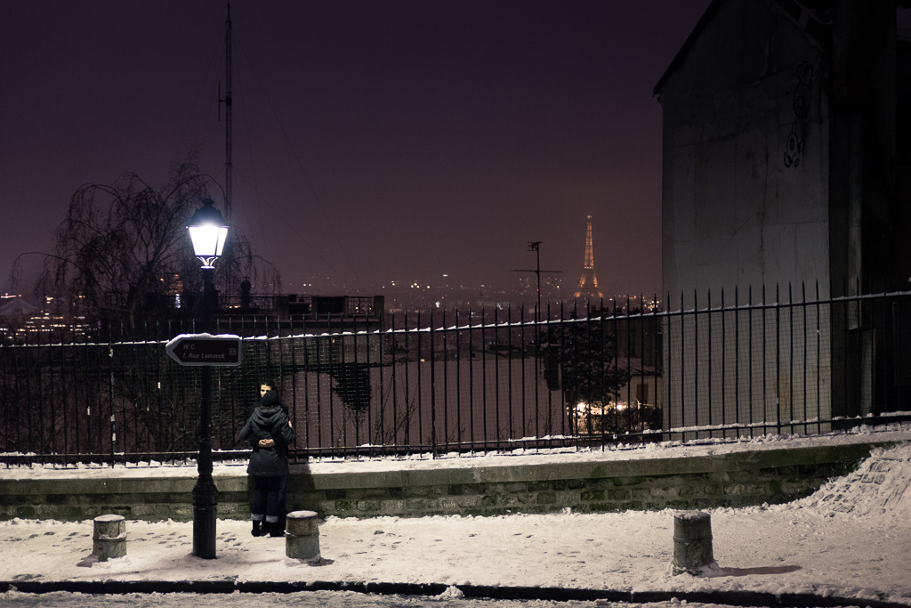 After the snow in Montmartre.