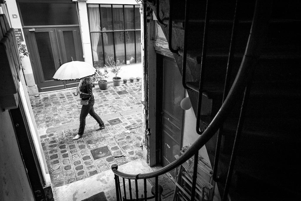 Umbrella in the alley.