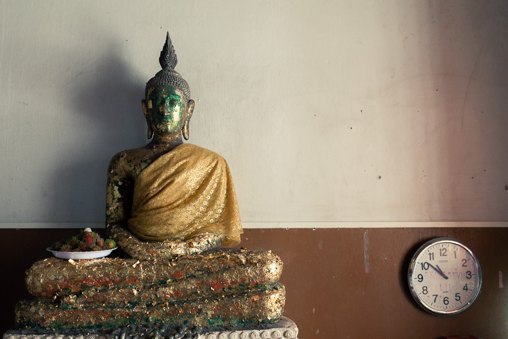 Buddha and the passing time.
