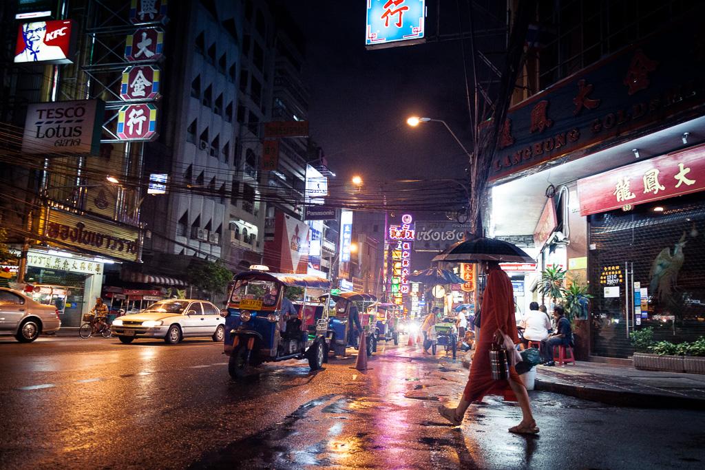 Rain on Yaowarat Road.