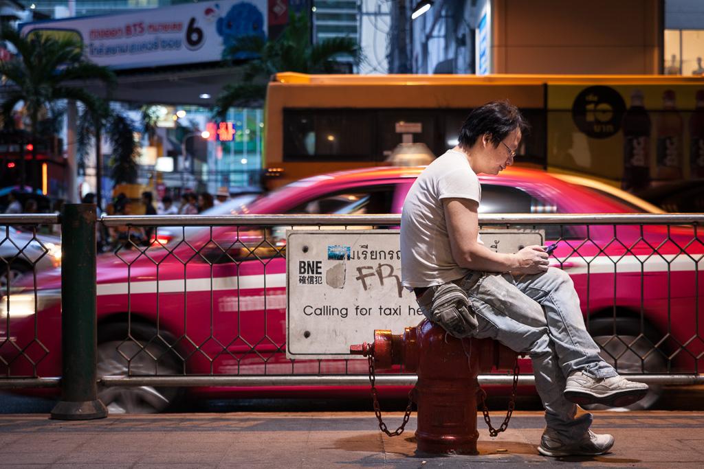 Taxi in Pathum Wan.