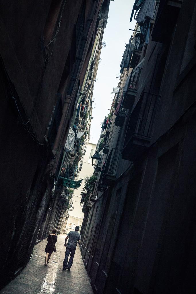 Strolling in Barcelona.
