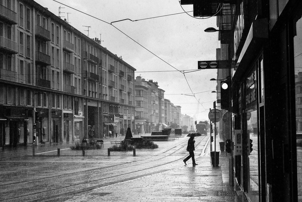 Rainy day in Brest.