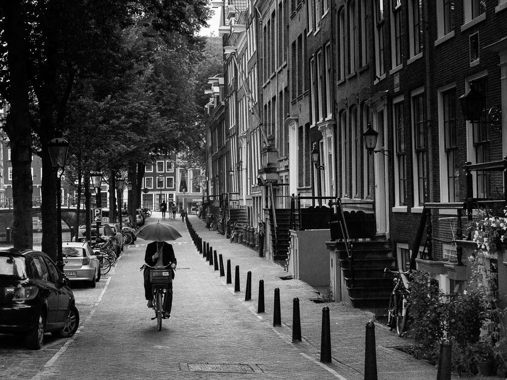Umbrella and bike.