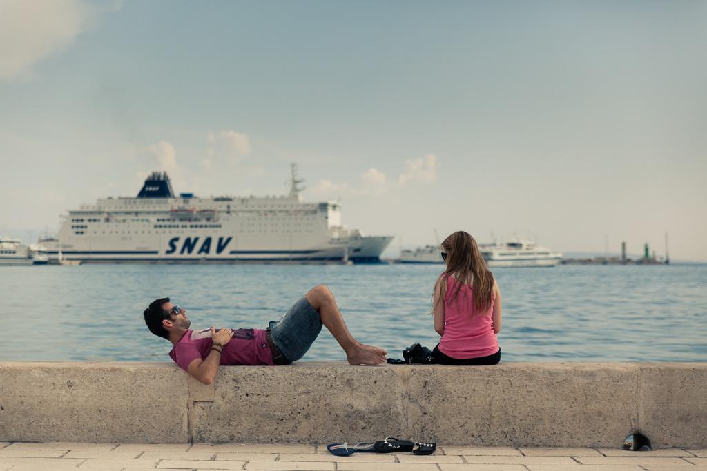 Split tourists.