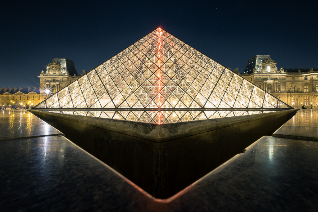 Louvre triangles.