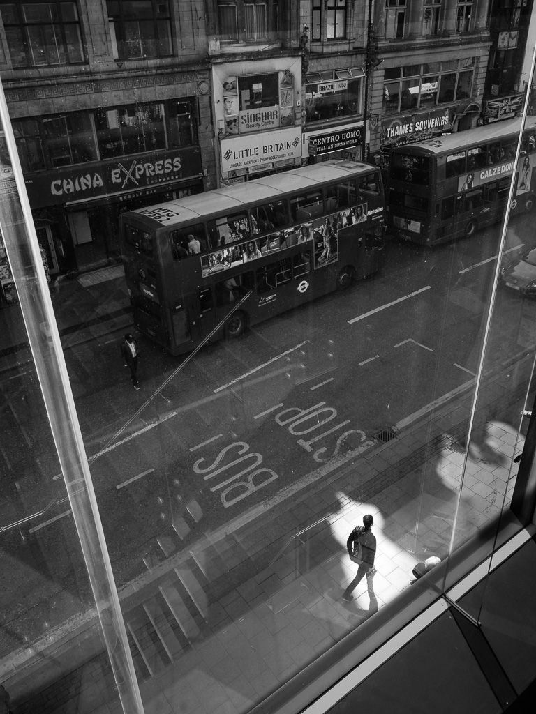 Silhouette on Oxford street.