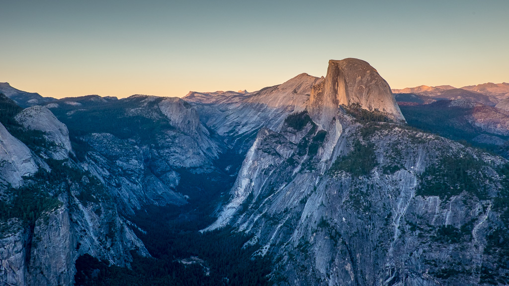 Sunset over Half Dome.