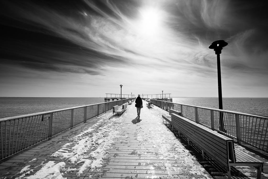 Walking on Steeplechase Pier.