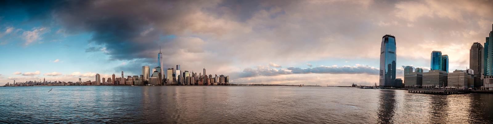Down the Hudson river.