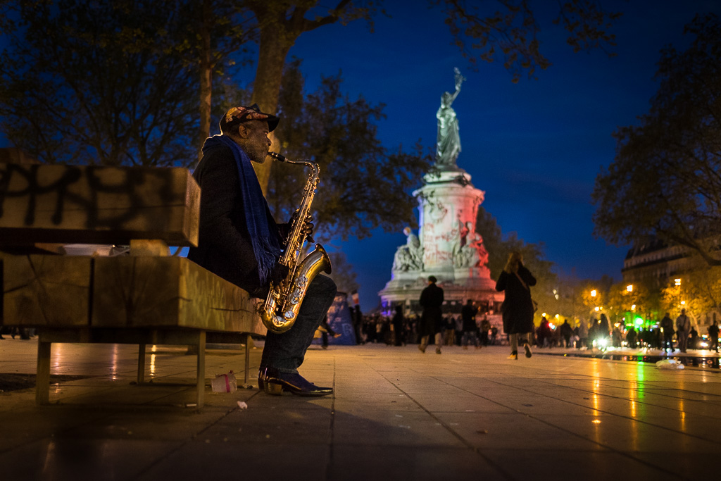 The saxophonist and the Republic.