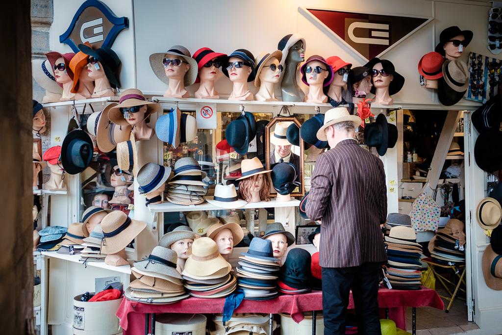 Hat seller.