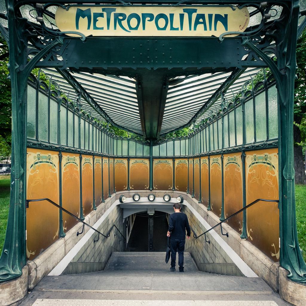 Down to the metro.