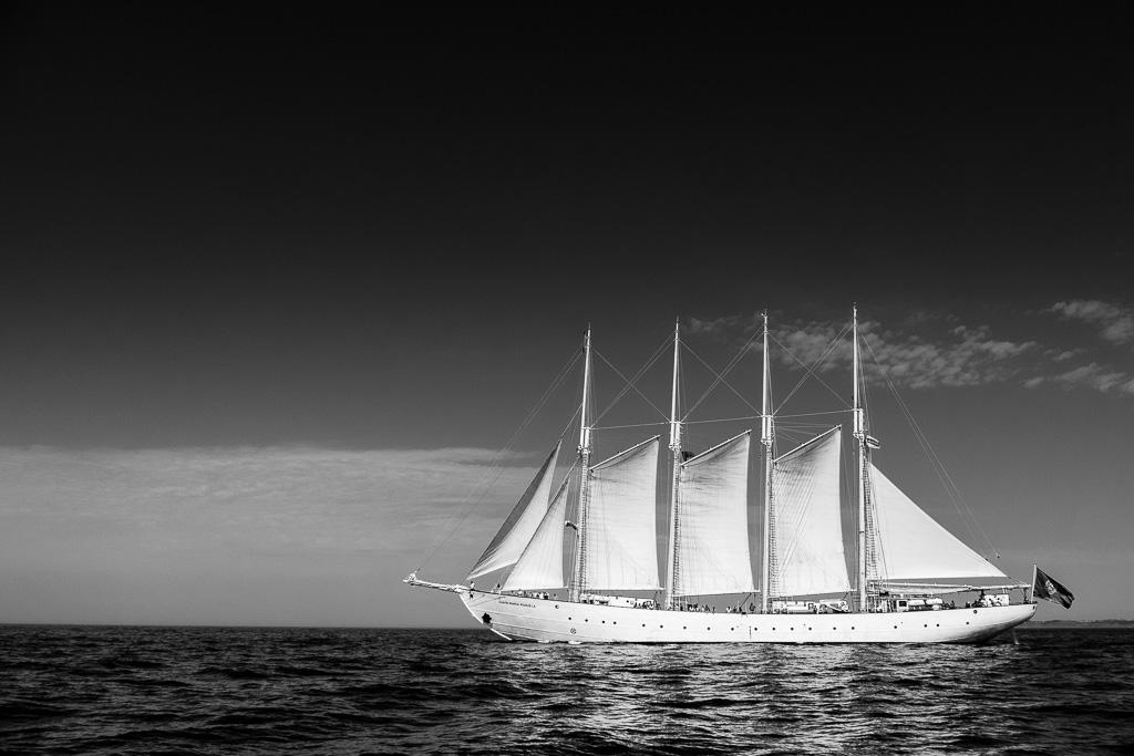 Four masts.