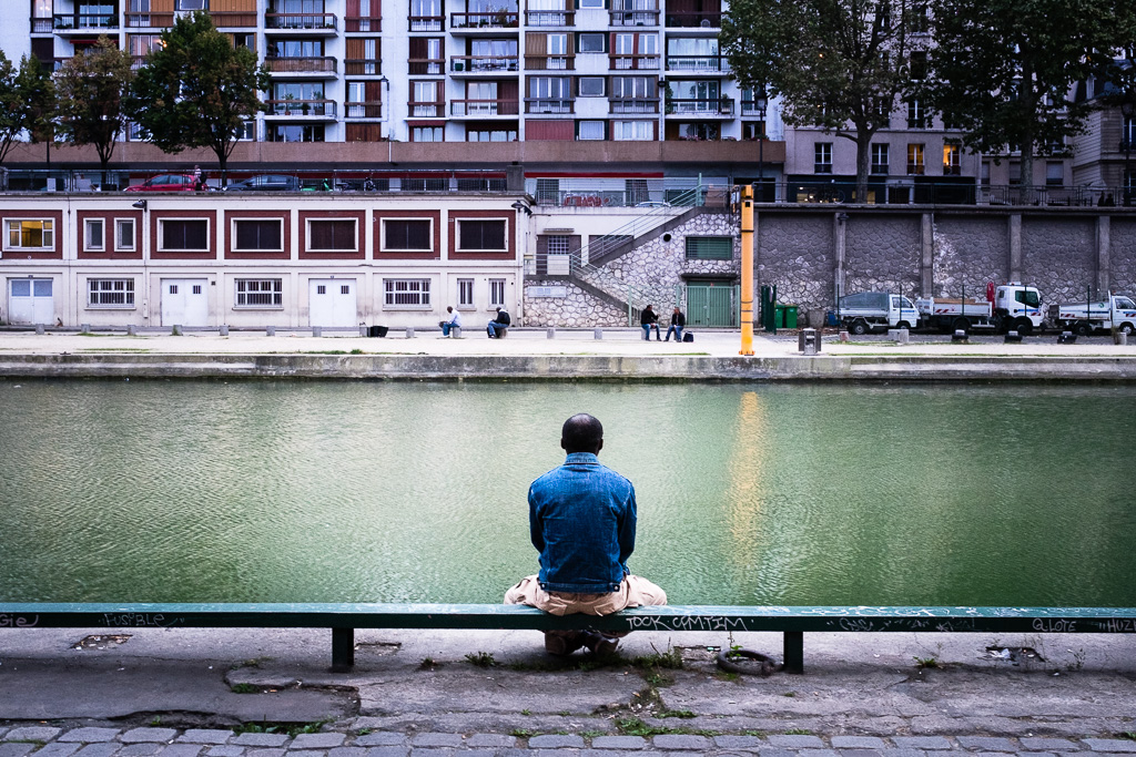 Canal Saint Martin Buddha.