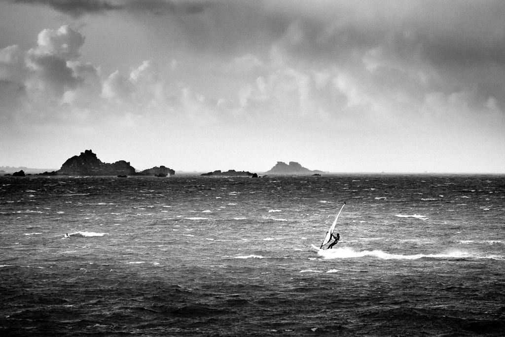 Sailing in Morlaix' Bay.