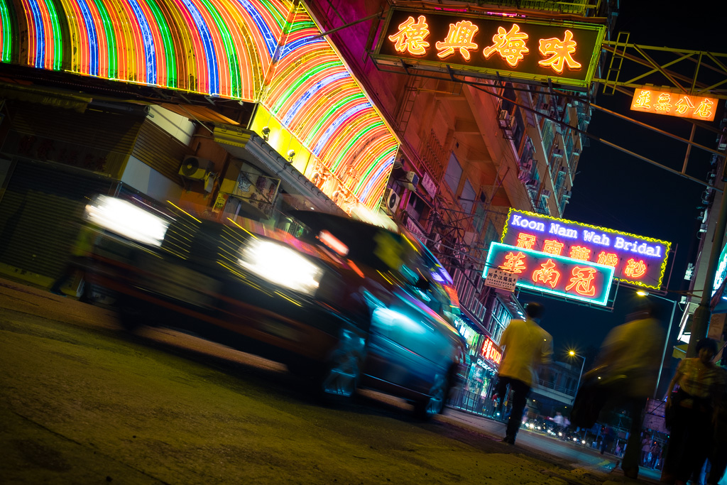 Taxi on Kansu Street.
