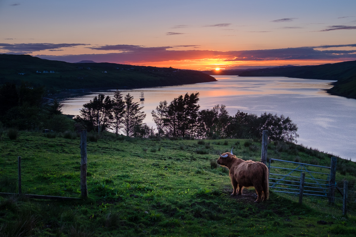 Sunset over Loch Hachport.