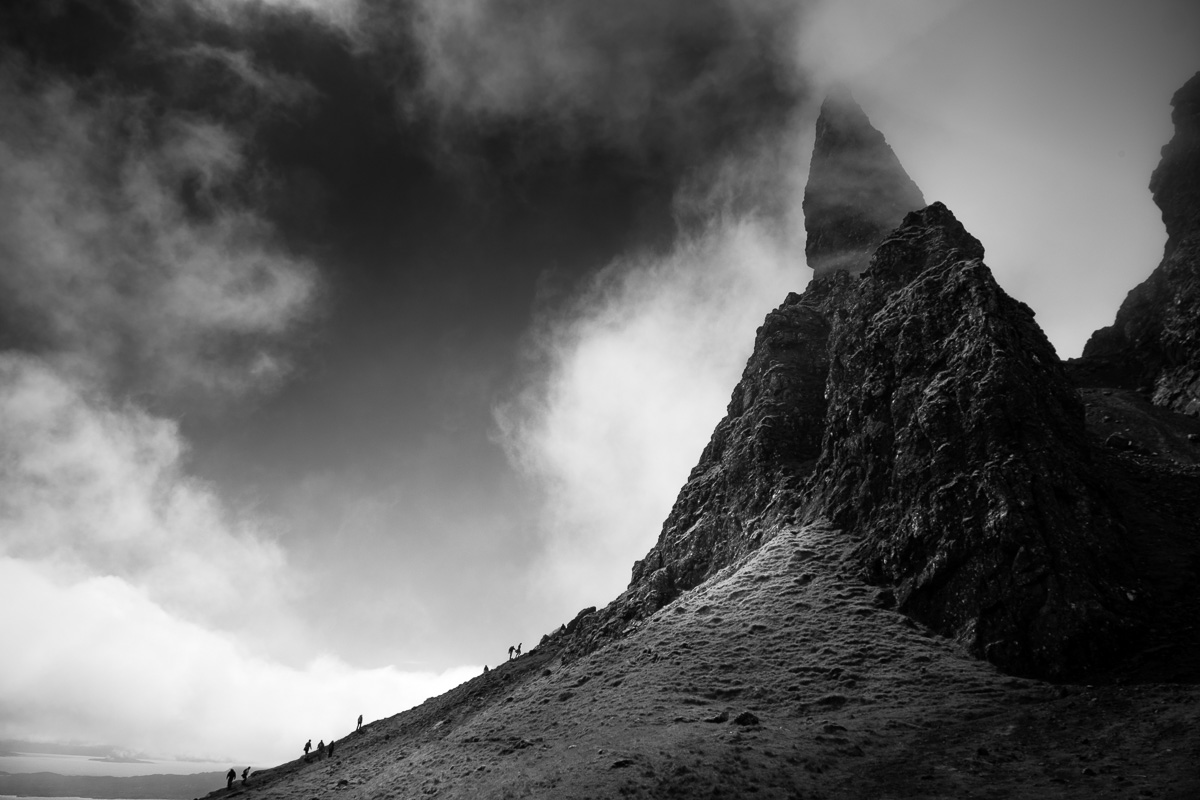 Climbing the Old Man of Storr.