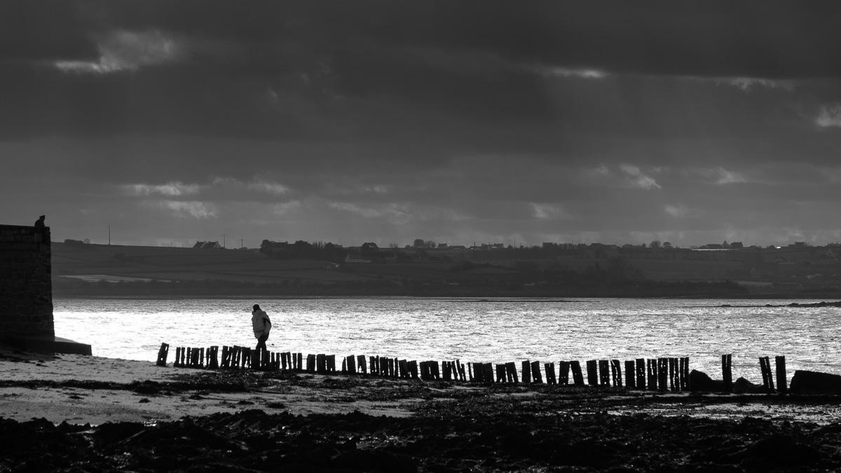 Walking at low tide.