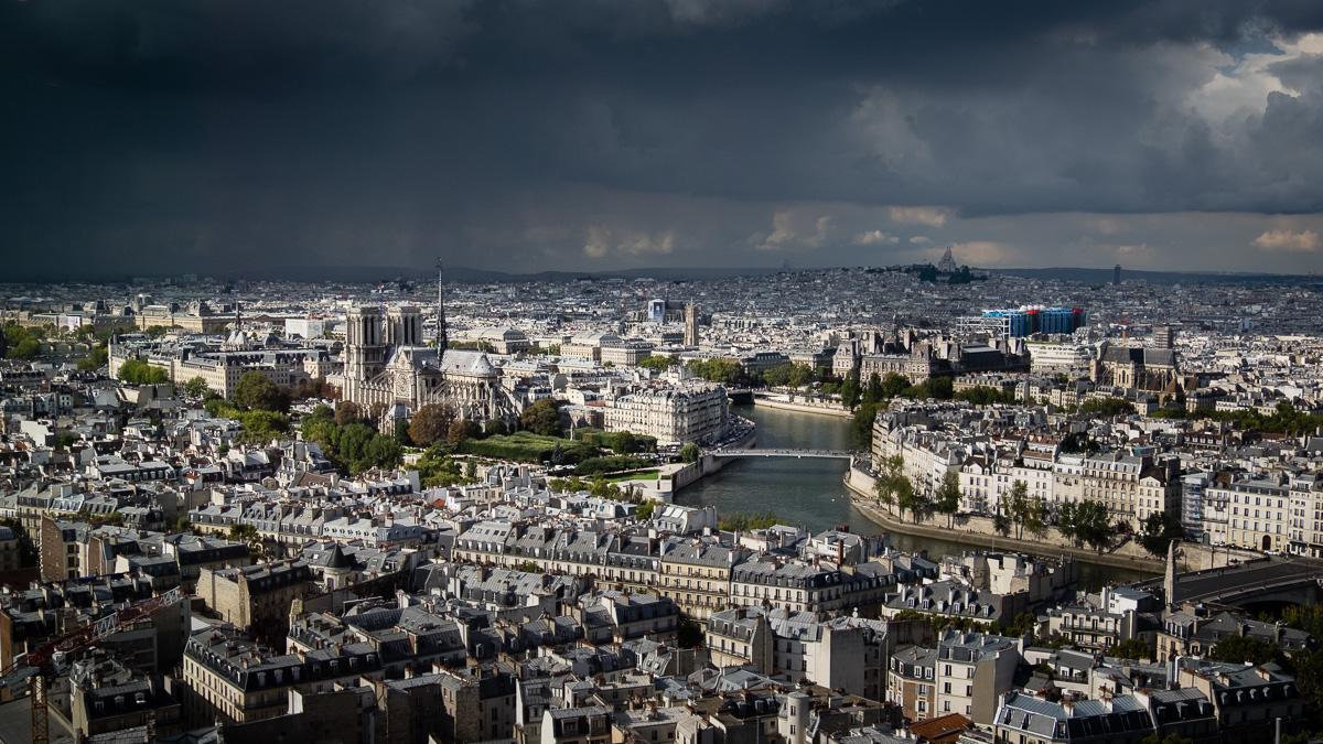 Above Paris.