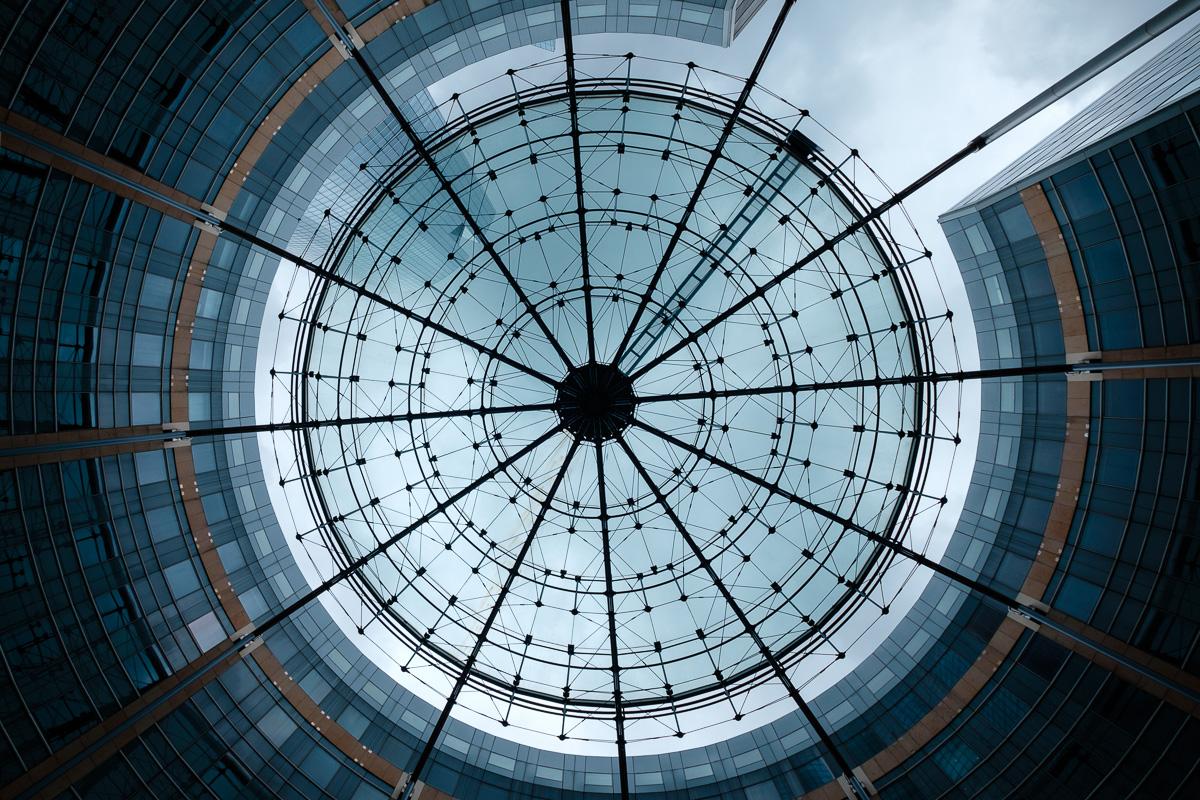 A grid as the sky.