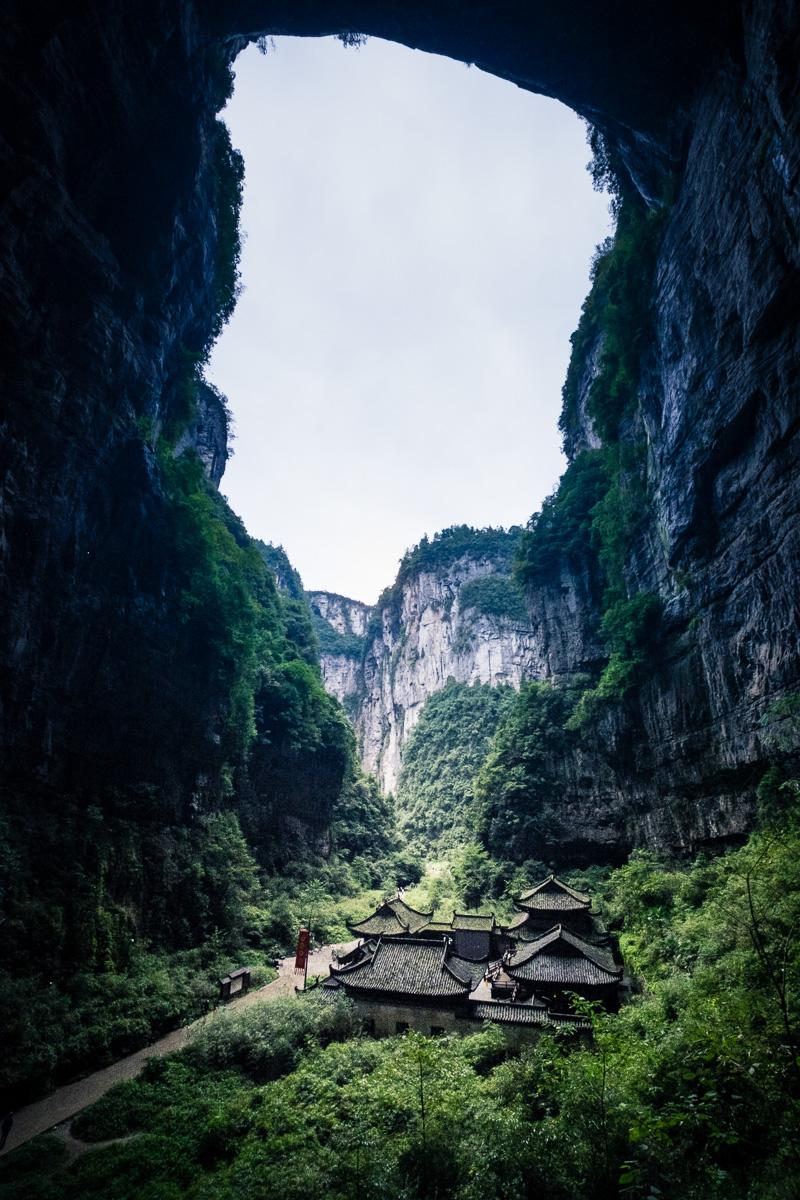 The temple under Tianlong.