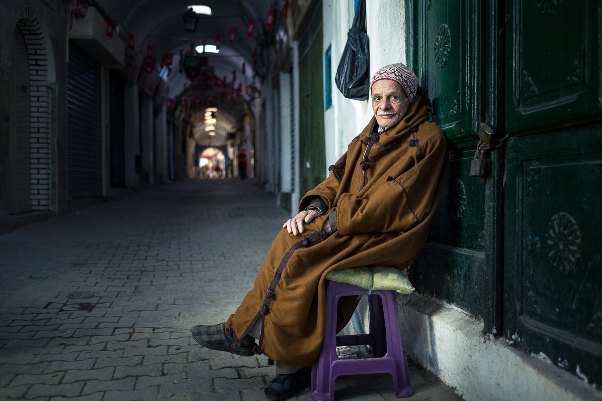 The cigarettes seller.