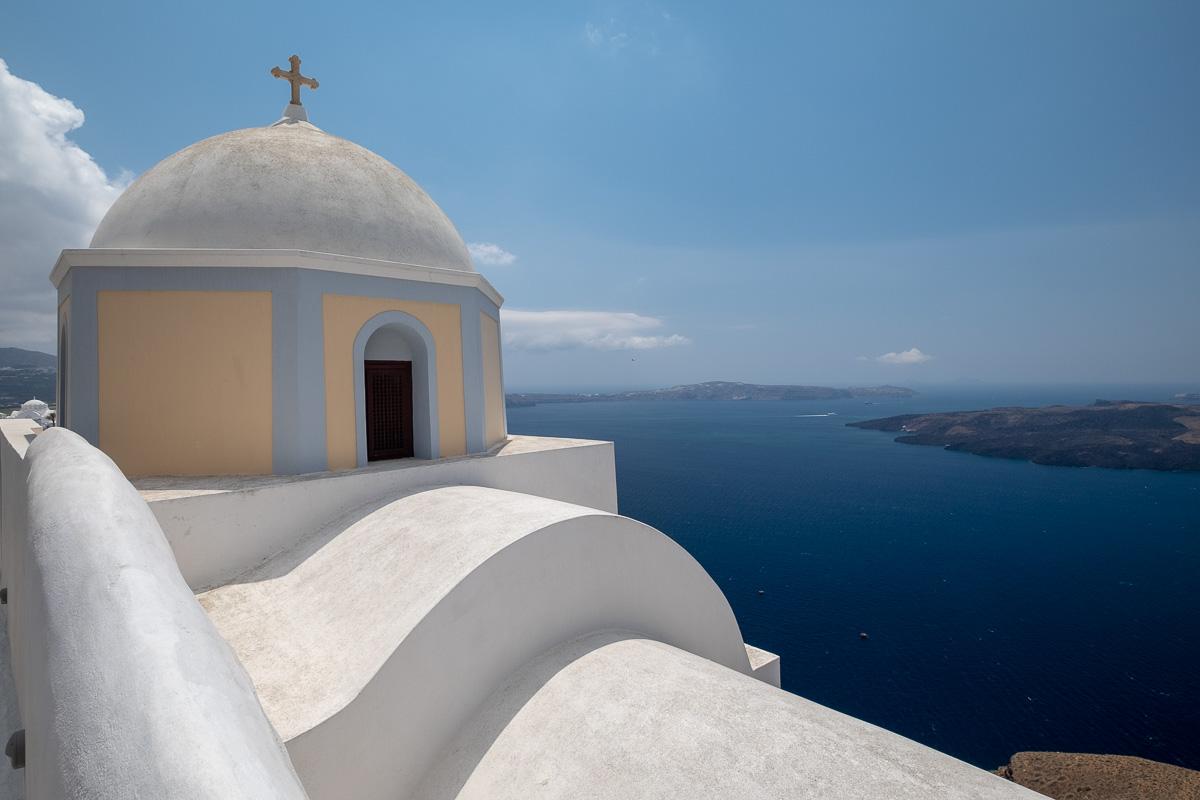 A dome above the sea.
