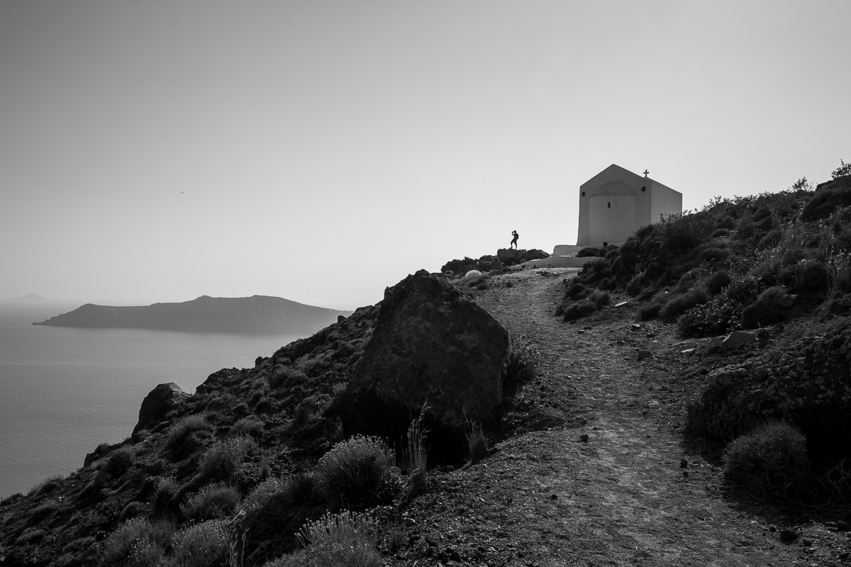 A photo by the church of Panagia.