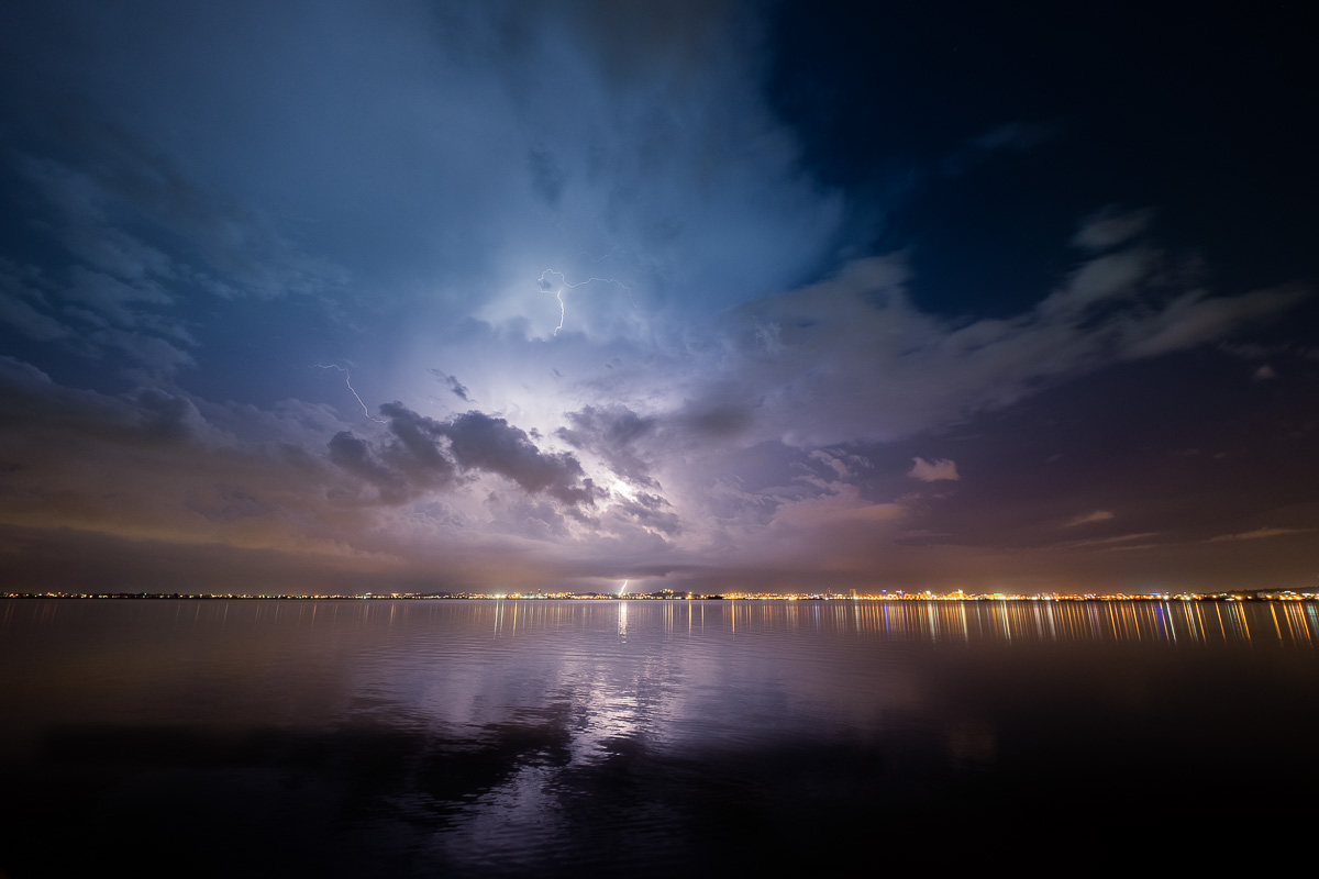 Storm over Tunis Lake.