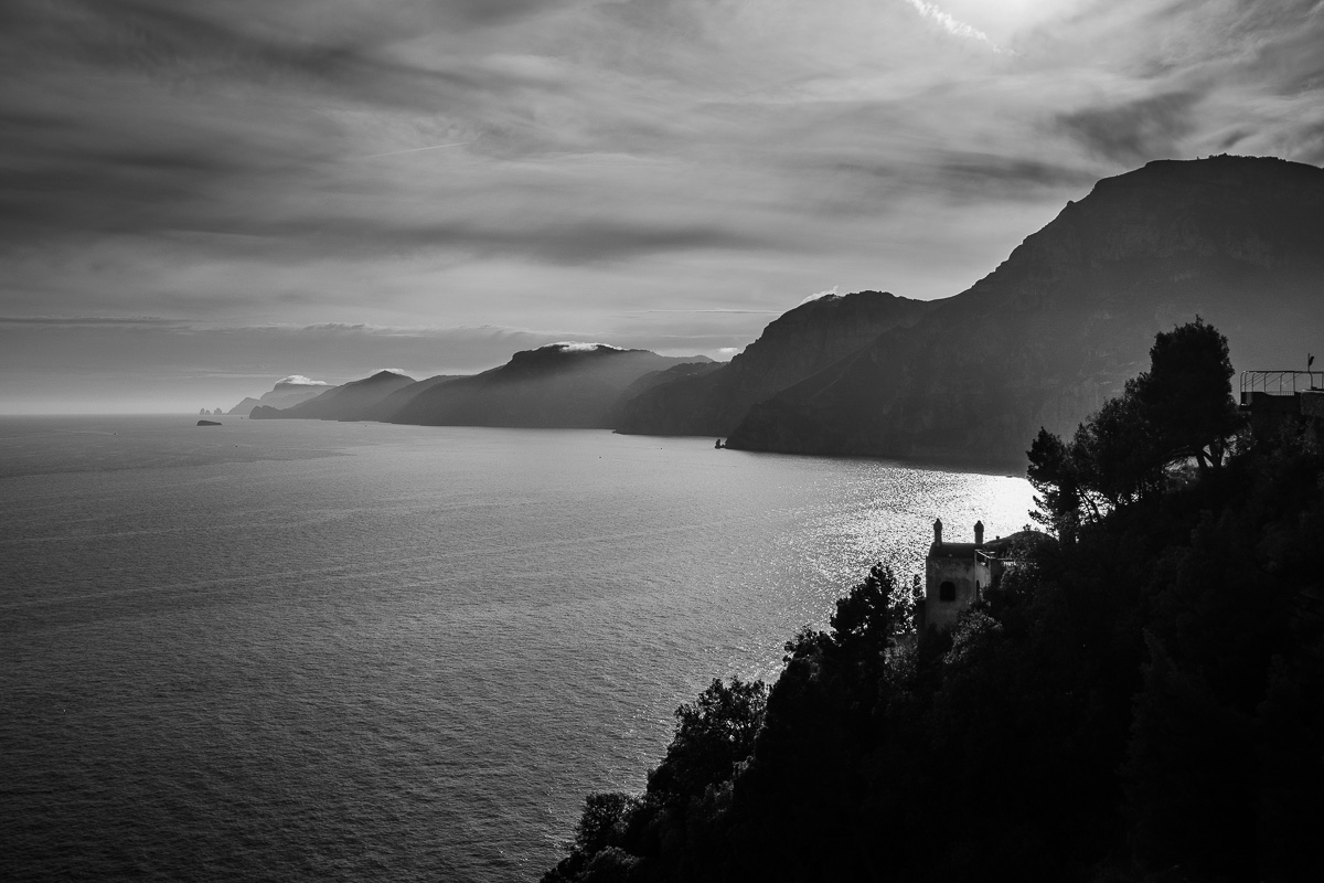 Along the Amalfi Coast.